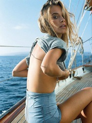 Barbara Di Creddo On A Beach And Yacht