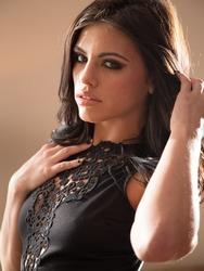 Brunette Babe In Black