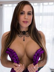 Katie Banks In Sexy Purple Corset