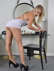 Blondie On Her White Undies