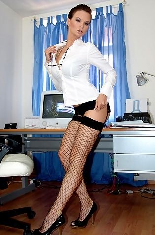 Tarra White Stripping In The Office