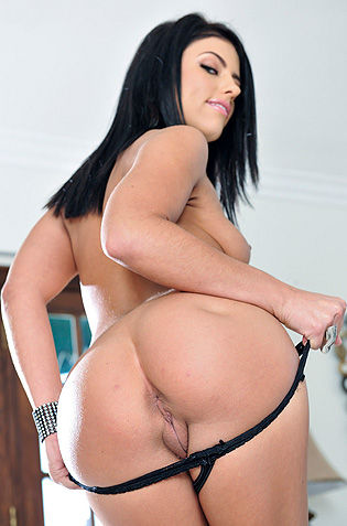 Sexy Black Haired Adriana And Her Hot Ass