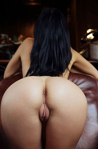 Black Haired Girl With Round Ass