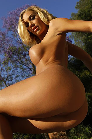 Nicole Aniston Outdoor Nude Pose