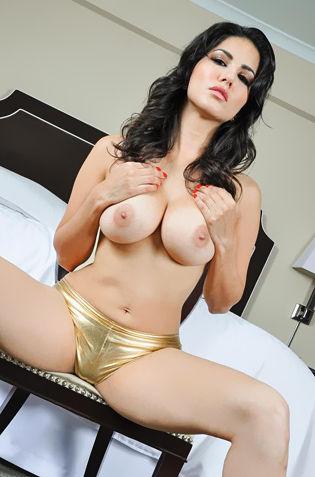 Sunny Leone In Gold Panty