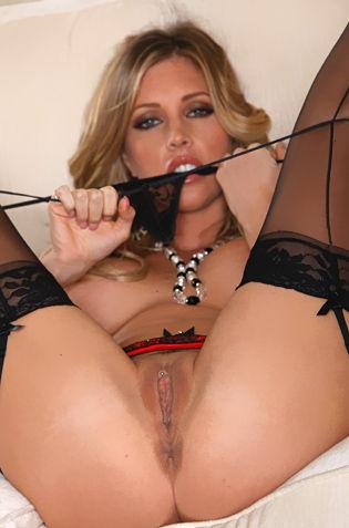 Sexy Samantha Saint Strips Her Black Thong