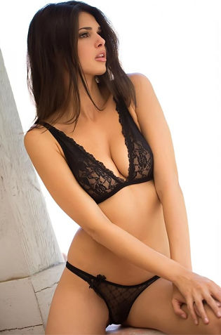 Skinny Teen Brunette On Lingerie