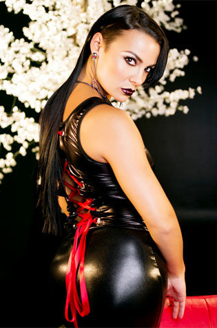 Busty Gothic Babe On Her Latex Overall