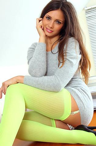 Louisia Marie In Girly Stockings