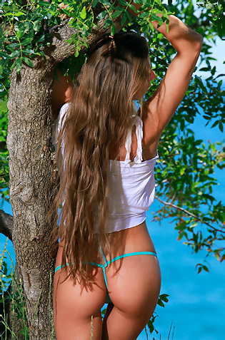 Long Haired Sofiya In The Nature
