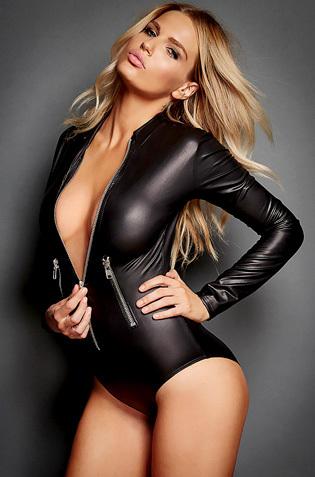 Rachel Mortenson In Sexy Black Latex