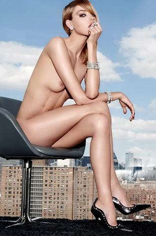 Martha Hunt Stripping For A Magazine
