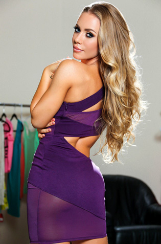 Nicole Aniston In Sexy Purple