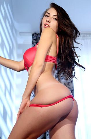 Niemira Foxx In Sexy Red Lingerie