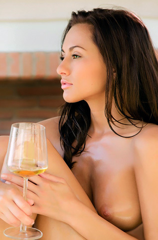 Michaela Isizzu Nude On The Terrace