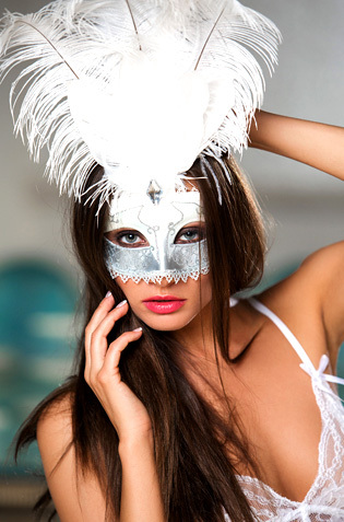 Michaela Isizzu In A Mask