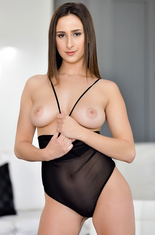 Ashley Adams Strip Off Her Black Fishnet Bodysuit