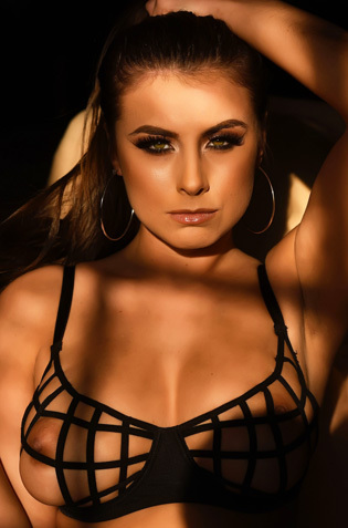 Sarah Mcdonald In Black Lingerie