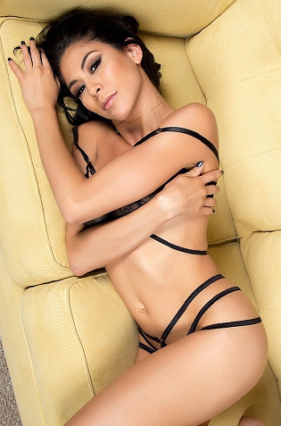 Gorgeous Heather Vahn Stripping On Sofa