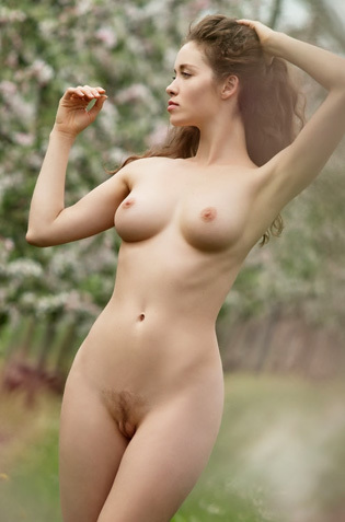 Vika A Naked In Nature