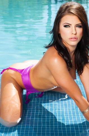 Adriana Chechik Stripping At Poolside