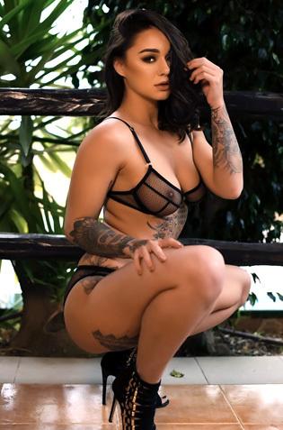 Pretty Tattooed Babe Mica Martinez Gets Naked