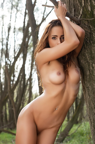 Rebeca Nude In Nature