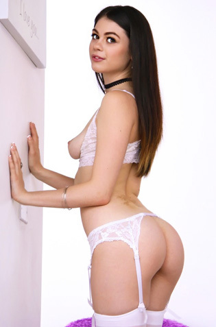 Hot Assed Teen Marina Woods In Sexy White Lingerie