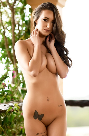Lauren Louise Strips Nude From Her Dress