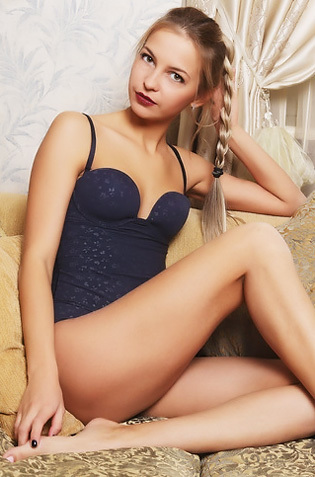 Tiny Titted Russian Blonde Teen Leonie