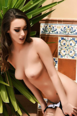 Lauren Louise Showing Her Shaved Pussy Outdoors