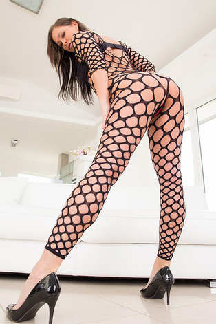 Olivia Netta In Full Body Fishnet