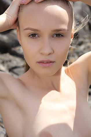 Naked Angel In Lava Field